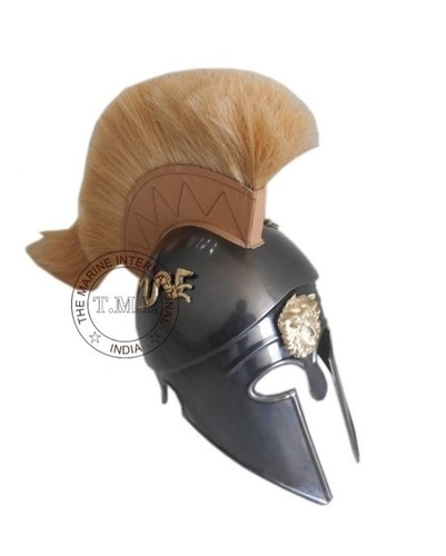 Dragon Corinthian Armour Helmet With White Plume