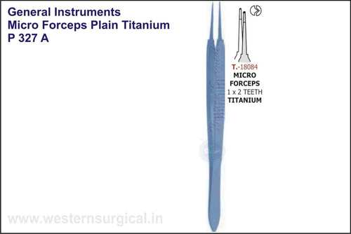 Micro Forceps Plain - Titanium