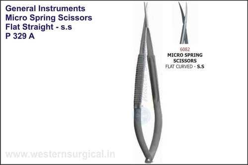MICRO SPRING SCISSORS FLAT STRAIGHT - S.S