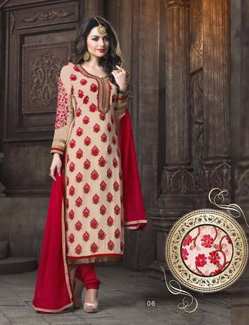 Designer punjabi suits churidar online