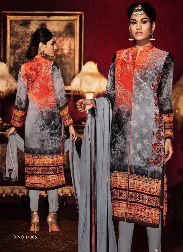 Designer salwar churidar suit salwar neck design