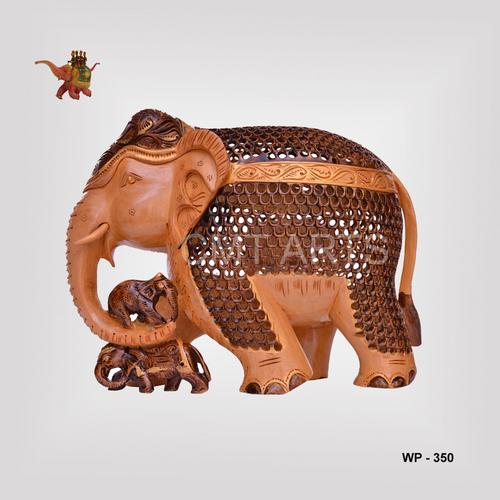 Wooden Jali Undercutl Elephant
