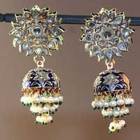 Gold Polki Ladies Earrings