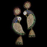 Polki Trendy Gold Earrings