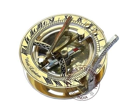 Round Sundial Compass