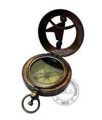 Antique Nautical Sundial Compass