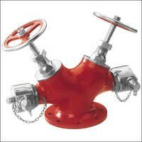 Double Outlet Type Landing Valve - Stainless Steel