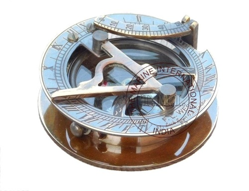 Antique Round Sundial Compass
