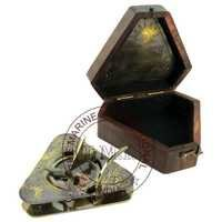Triangular Antique Sundial Compass