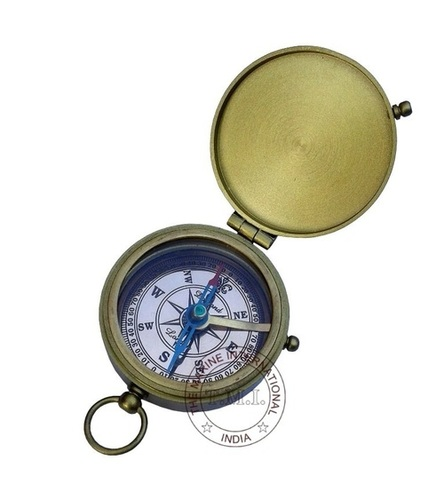 Brown Antique Flat Compass