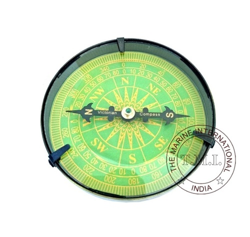 Green Dial Nautical Antique Compass