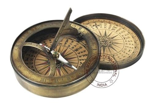 Antique Pocket Sundial Compass