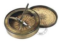 Antique Pocket Sundial Compass