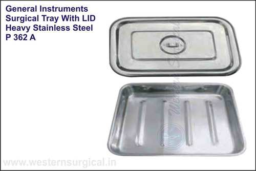 Surgical Tray With Lid Heavy Stainless Steel