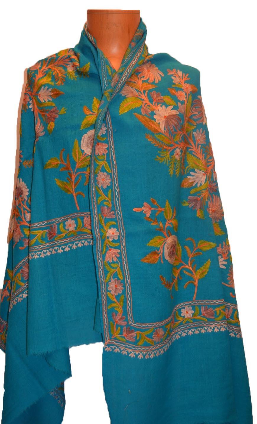 Indian Woolen Embroidered Fashion Shawls