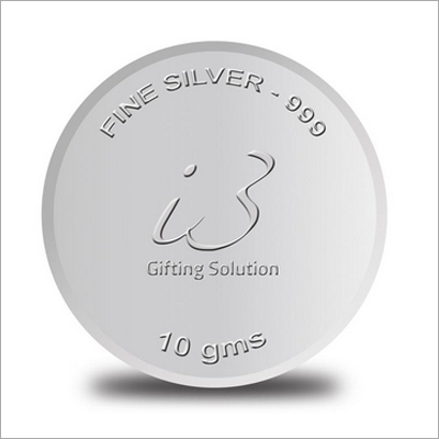 Customised 10 Gm Silver Coin-999 Purity