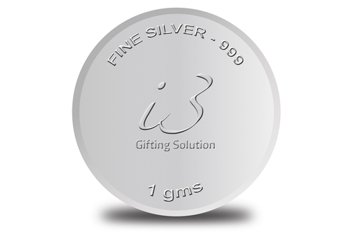 Customised 1 Gm Silver Coin-999 Purity