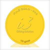 Customised 10 Gm Gold Coin-916 Purity