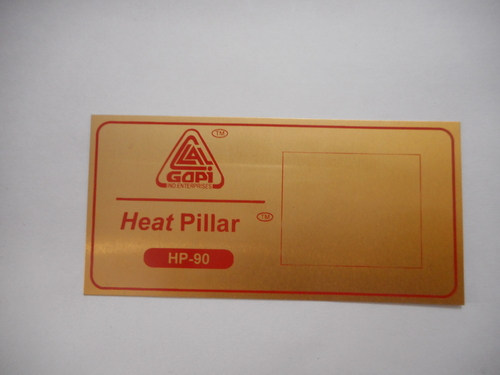 Gold Anodizing Metal Labels