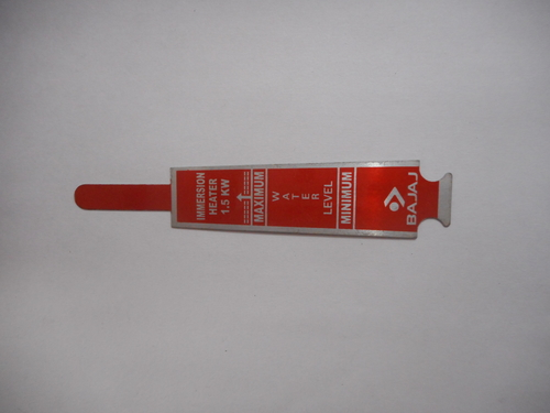 Immersion Rod Metal Labels