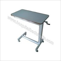 Over Bed Table Adjustable By Gear Handle