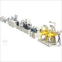 Butt Welding Steel Plastic Pipe Production Line