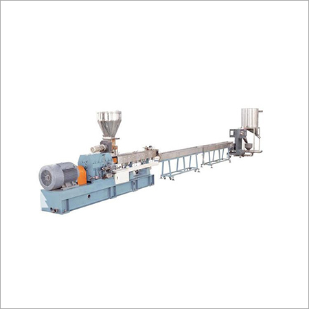 Parallel co extrusion production line with twin screw extruder