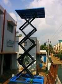 Two Wheeler Unloading Ramp-Hydraulic Scissor Lift