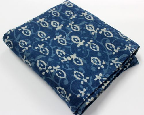 Indigo Blue Print Cotton Fabric