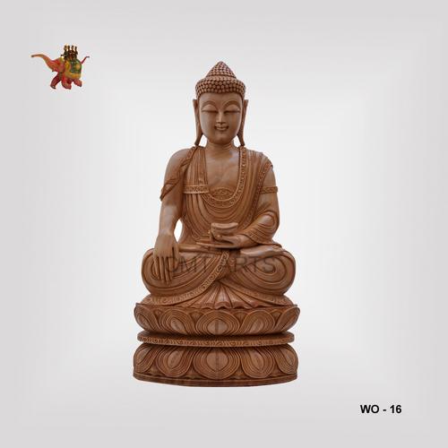 Wooden Meditation Buddha