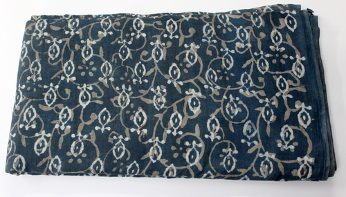 Indigo Blue Block Print Fabric