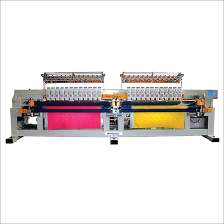 Computerized Multi-color Double Roll Quilting and Embroidery Machine