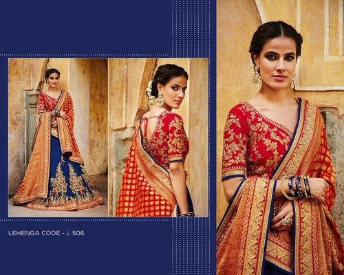 Buy Royal Blue Designer Lehanga Online