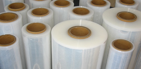 stock lot of plastic films
