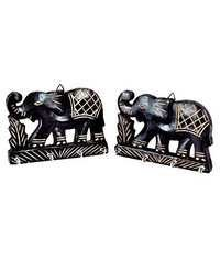 Desi Karigar Wall Hanging Key holder with key hooks in Elephant Shape. A perfect key holder Set Of 2