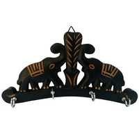 Desi Karigar Wooden Key Hanger Wall Hanging Decor Elephant Small