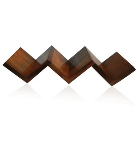 Desi Karigar Beautiful Rosewood Fancy Modern Zigzag Wall Shelf