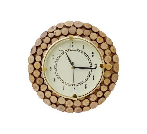 Desi Karigar Fancy Wooden Wall Hanging Clock Watch