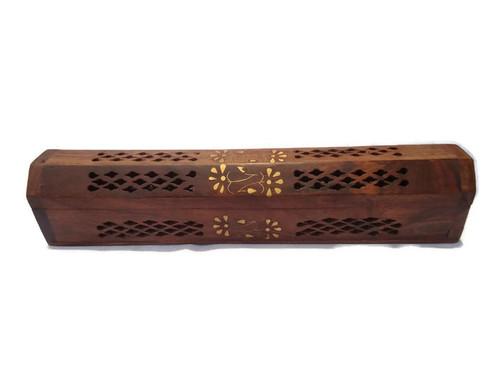 Desi Karigar wooden sheesham agarbatti incense stick dhoop batti box/case/stand/holder
