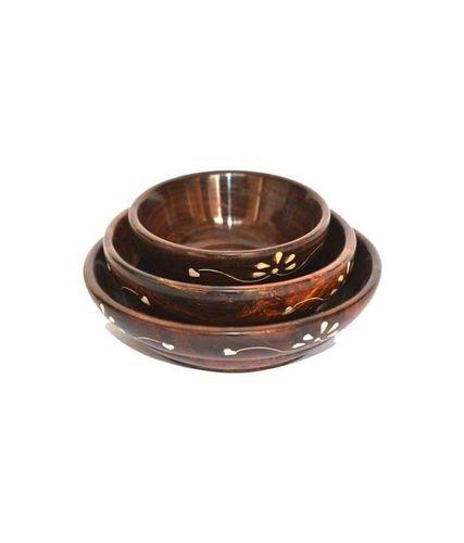 Desi Karigar white inlay Bowl set of three