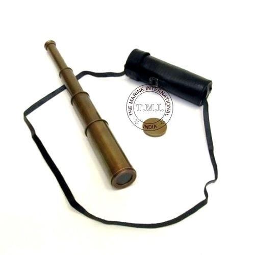 Antique Telescope W/Leather Case
