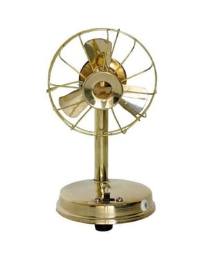 Desi Karigar Brass Toy Fan Showpiece Portable Rechargable with charger