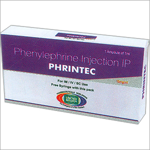 Phenylephrine Hcl Injection 10mg/1ml