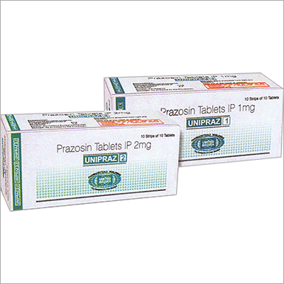 Prazosin Tablets IP 1mg and 2mg