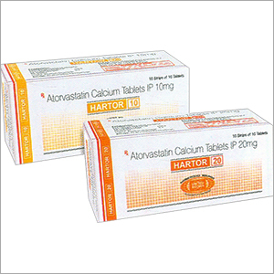Atorvastatin Calcium Tablets IP 10mg & 20mg