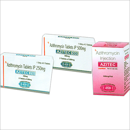 Azithromycin Tablets IP 250mg/ 500mg