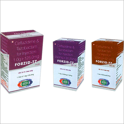Ceftazidime 1 g + Tazobactam 125mg