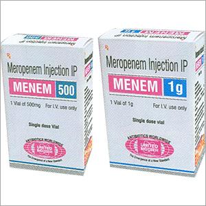 Meropenem Injection IP 500mg / 1g Vials