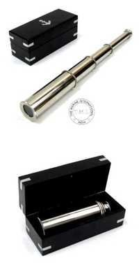 Brass Telescope With Box in Chrome Finish