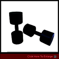 weight-lifting10SOLID RUBBER DUMBELLS